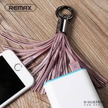 Remax Ring tassel cable iOS9 Certificated 8pin 3.0A USB Charging Data Cable For iPhone 5 5S 6 6S Plus for iPad Air 2