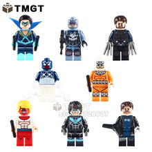 TMGT 8pcs/lot Super Hero Marvel Wolverine Captain Punisher Night Wing Space Spider Man Building Blocks Baby Toys PG8058