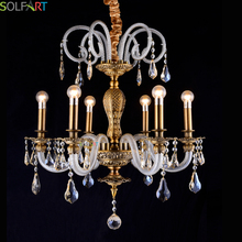 SOLFART Crystal Chandeliers Lighting Fixtures Heracleum Chandelier Pendant CE Light Candle Holder Crystal Chandelier(China)