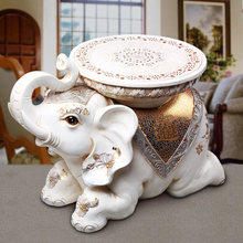 home decoration accessories elephant stool stools for Home Furnishing European style living room decoration elephants pouf white(China)