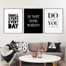 Haochu Simple Nordic Decoration Motivational aphorism Letters Geometric Canvas Painting Print Poster Decal Art Wall Home decor