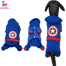 Buy DOGBABY Autumn Winter Dog Coat Jacket 100% Cotton Print American Captain Pet Clothes Blue Color Warm Cute Dog Costume China for $3.61 in AliExpress store