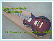 Top Quality Custom Shop Guitar LP Semi-hollow Body 2 F Holes Tree of Life Inlaids