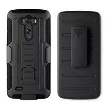 Armor G3 Sport Style TPU + PC Cool coque G 3 Case For LG G3 Men Heavy Duty Stand Cover For LG G3 case black(China)