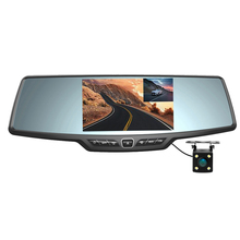 "Dual Lens C30 Car DVR Rearview Mirror Camera Full HD 1080P 4.3""LCD+Parking Camera Night Vision Video Recorder Registrator(China)"