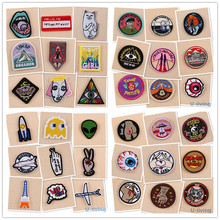 1pcs Mix fashion Patches for Clothing Iron on Embroidered Sew Applique Cute Patch Fabric Badge Garment DIY Apparel Accessories(China)