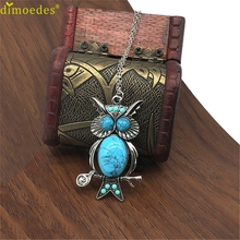 Diomedes Gussy Life Wholesale  Free Shipping Owl Pendant Long Necklace Sweater Chain Dec627