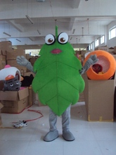 Green leaves Cartoon Character Costume cosplay mascot Custom Products custom-made(s.m.l.xl.xxl) free shipping(China)
