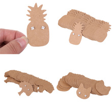 100 Pieces Kraft Paper Pineapple Cat Life Tree Earring Display Tags Cards Jewellery Holder Gift Shop Tags Cards(China)