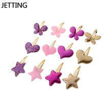 2pcs Baby Girls Kids Love Star Hair Clips Pin Bows Headwear Hairpin Accessories For Children Hair Ornaments Hairclip Headdress(China)