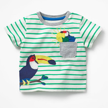 Children T shirts for Boys Clothes 2018 Brand Baby Boys Summer Tops Tee Shirts Fille Animal Print Kids T-shirts Boy Clothing(China)