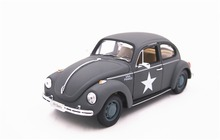 Welly 1:24 Volkswagen Beetle Hard Top Matte Gray Diecast Model Car Vehicle Toy New in Box