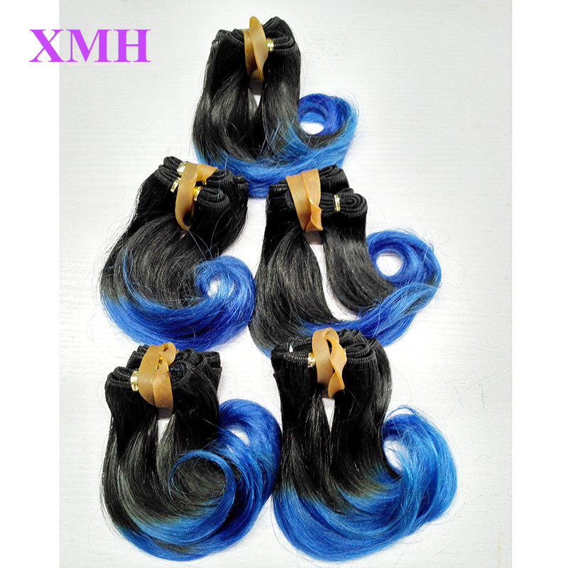 Virgin Peruvian Ombre Hair Extensions T Colors 1B,1B/27 30 Grey Red Blue Purple Pink Human Hair Weaves 5Pcs Lot 50/bundle Hair <br><br>Aliexpress