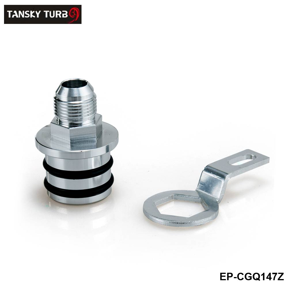 TANSKY - Engine Billet Aluminum Block Plug Adapter Breather Fitting to 10AN  For Honda Integra B16/B18 Engines only  EP-CGQ147Z