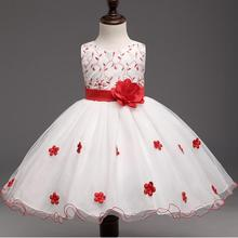Babynihao 2017 New High quality Girl Beautiful Birthday Dress and Party Dress with Red Cute sleeveless dress for 2-10 years old