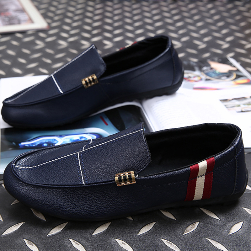 Man Loafers Spring Summer Mens Casual Boat Shoes Moccasins Leather Slip On Driving Flat Shoes Z702 zapatillas deportivas hombre<br>