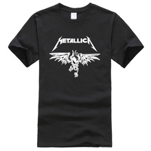 2017 summer T-shirts printed Heavy Metal Metallica Rock Band pattern fashion cool men's T-shirt hip hop streetwear t shirt men