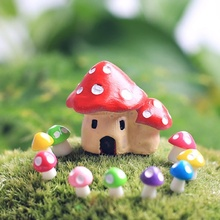 Hot Sale Microlandschaft DollHouse DIY Miniature Potting Decor Office House Graden Mushroom House Potted Plant craft supplies(China)