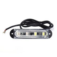 1pc 12-24V 4 LED Front Bumper Driving Light lamp Bar Car Truck Side Maker Light Strobe Flash Warning Light Reflector