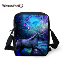 WHOSEPET Cute Crossbody Bag For Women 2017 Unicorn Handbags Messenger Bags Female Girls Fashion Shoulder Bag Women's Handbag(China)