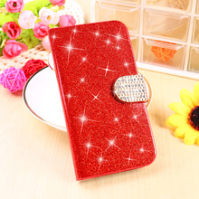 Glitter Bling Cell Phone Cases For Alcatel OneTouch Pop 3 5015D 5.0 inch Housing 3G Version 5016A Covers PU Leather Wallet Bags