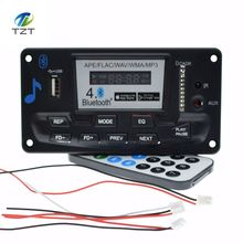 4.0 Bluetooth MP3 Decoding Board Module LED 12V DIY USB/SD/MMC APE FLAC WAV DAE Decoder Record MP3 Player AUX FM Folders Switch(China)