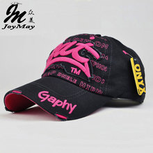 JOYMAY Hat Cap Factory Outlet High Quality JOYMAY Women Cotton Fashion Casual Leisure Embroidery Baseball Cap B001(China)