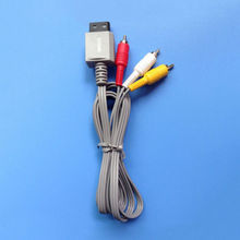 Good quality,New Audio Cord For Nintendo Wii Game 1.8m Video AV Composite 3-RCA Cable Console(China)