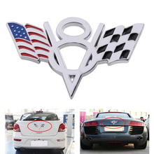 Buy DWCX Car Emblem Badge Sticker Decal Auto 3D Metal Plated V8 American & Checkered Flag VW Audi BMW Honda Hyundai Kia Ford for $3.39 in AliExpress store