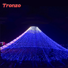 Tronzo Party Night light DIY Tree Ornament Outdoor LED Waterproof String Light Wedding Decoration For Home EU Plug(China)