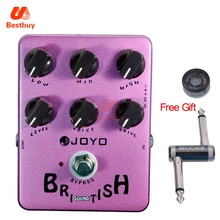 JOYO JF-16 British Sound Guitar Pedal Marshall-amp-simulating 6 Knobs with One MOOER PC-Z Pedal Connector and One Cover Cap