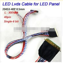 5pcs x LED Laptop LVDS Cable 40 Pin Single 6 bit for I-PEX 20453 B14XW02 Panel Cable new