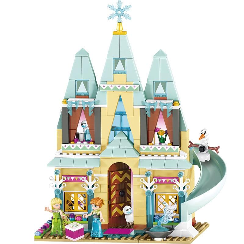 LOZ Arendelle Castle Building Blocks Model Set Princess Anna Elsa Christmas gift Figures for girl Compatible Legoingly Friends<br>