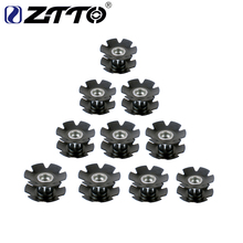 "10 PCS ZTTO MTB Road Bike Bicycle Cycling Steer Tube Headset Aluminum Star Nut 1 1/8"" OD28.6mm Bulk Wholesale(China)"