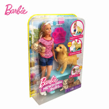 Original Barbie New Born Pups Doll Dog Pet Baby Hatching Dolls Toys Boneca Fashionista Girl Birthday Christmas Gift FBN17(China)
