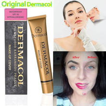 Original Dermacol Base Makeup Cover 30g Primer Concealer Professional Dermacol Make up Foundation Contour Palette Corretivo DC