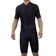 2017 SGCIKER all balck pro team aero Cycling skinsuit Short sleeve summer bodysuit bike clothing MTB Ropa Ciclismo speedsuit
