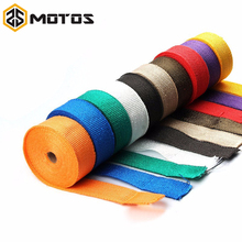 ZS MOTOS 1.5 mm*50 mm*10 m Fiberglass Exhaust Protection Pipe Heat Header Insulation Tape Turbo Wrap