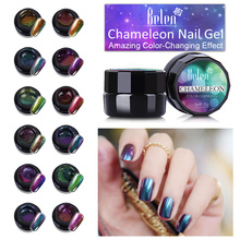 Belen Nail Polish Chameleon UV Varnish Lacquer Bling Gels For Nails Acrylic Paint Polish Chameleon or Brush Pen(China)