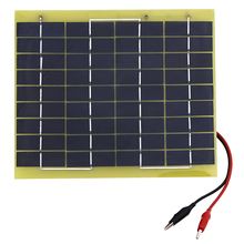 5W 12V Polycrystalline Poly Solar Cell panel for Diy Boat 12V Battery Charger Solar Panel poly 12V(China)