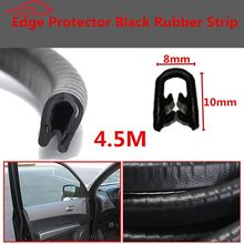 4.5 M Black Car Edge Protector U-shaped Rubber Auto Door Noise Insulation Anti-Dust Soundproof Sealing Strips Trim(China)