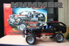 589pcs Hummer Transport Cruiser SUV Racing Car Truck Model Building Block Sets DIY Toys Gift Technology Compatible With Lego