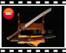 Chinese Sword Martial arts BROADSWORD Kendo Machete -Pear Wood Sheath