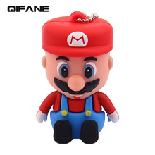 QIFANE Creative Mushroom image U Disk 16G Cartoon pen drive 4G 8G Lovely  USB Flash Drive 32GB 64G memory stick Free shipping