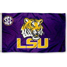 Louisiana State SEC Logo College Large Outdoor Flag 3ft x 5ft Football Hockey College USA Flag(China)