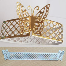 Butterfly Frame Metal Die Cutting Dies For DIY Scrapbooking Photo Album Decor Template 3D Combination Embossing 20133mm