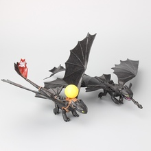 "2  Styles How to Train Your Dragon 2 Night Fury Toothless PVC Action Figure Toys Dolls 8"" 20CM Kids Birthday Gift"