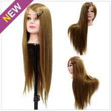 "24"" 50% Real Long Hair Model Hairdressing Practice Training Head Mannequin Manikin Hair Styling Mannequin Doll Salon Model"