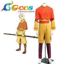 Free Shipping Cosplay Costume Avatar The Last Airbender Bumi Avatar Aang Uniform New in Stock Halloween Christmas Party Uniform