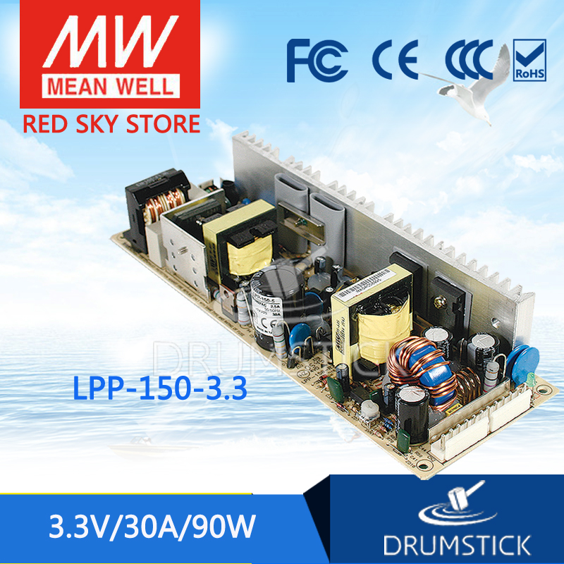 hot-selling MEAN WELL LPP-150-3.3 3.3V 30A meanwell LPP-150 3.3V 99W Single Output with PFC Function<br>